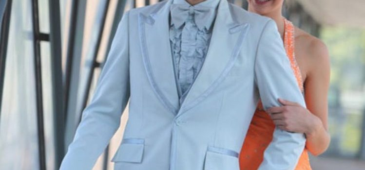 Powder blue tuxedo